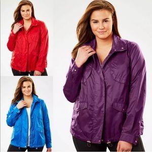Woman Within Utility Nylon Jacket Plus Size